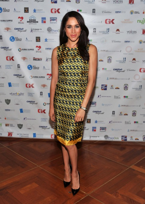 Meghan Markle's Most Fashionable Outfits | Attending the 2013 Cantor Fitzgerald And BGC Partners Charity Day