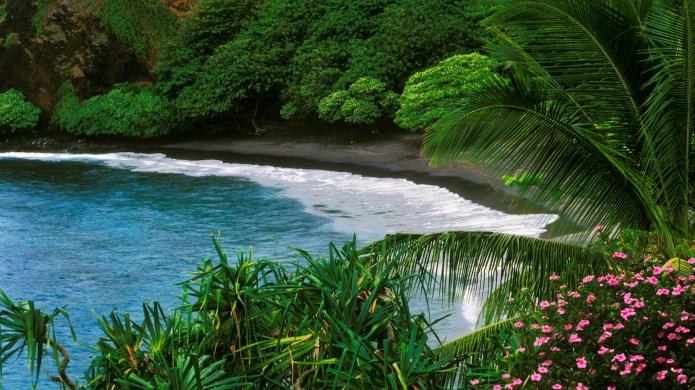 Hamoa beach near Hana on Maui