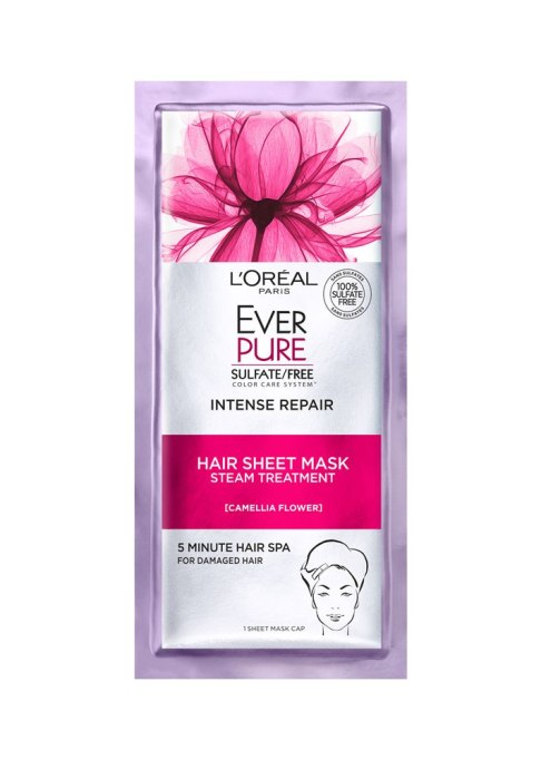 Best Under $20 Hair Masks | L'Oreal EverPure Intense Repair Hair Sheet Mask