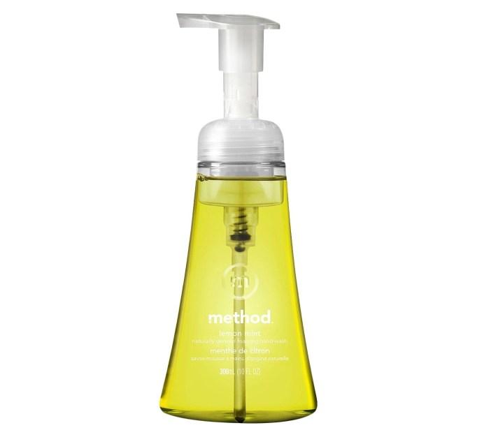 Method foaming hand soap lemon mint