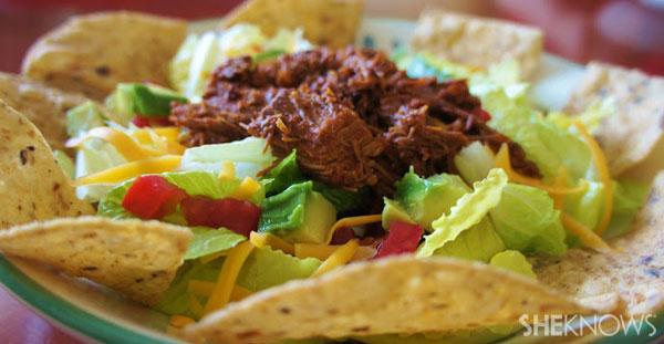 Slow Cooker Beef Enchilada Salad