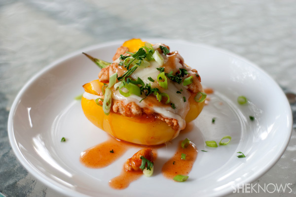 cheesy baked enchilada stuffed bell peppers