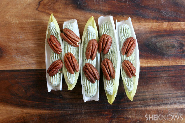 Endive with dill cream cheese