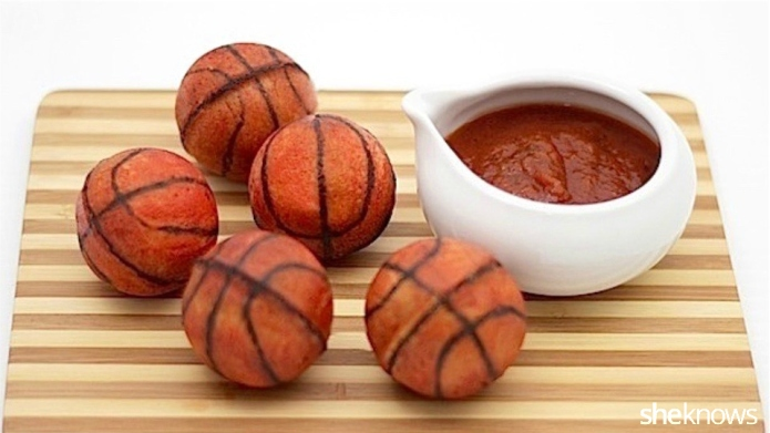 Basketball calzones make perfectly poppable March