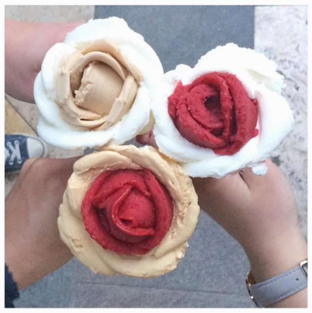 Ice cream roses too pretty to eat