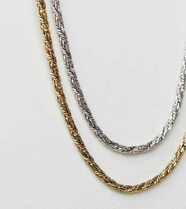 Chunky Jewelry Is Making a Comeback: DesignB Chain Necklace 2-Pack | Fall Style 2017