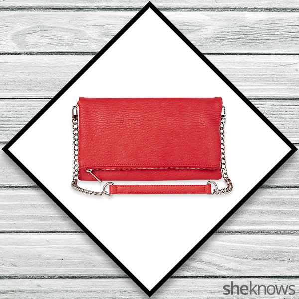 Red clutch from Express