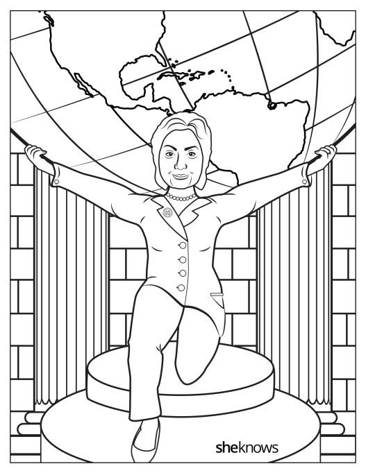 Hillary Clinton as Atlas