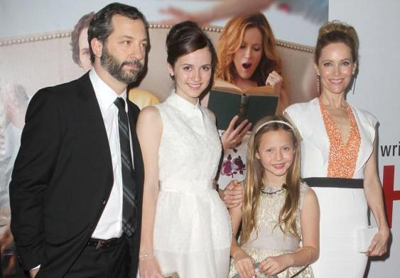 Judd Apatow and Leslie Mann call