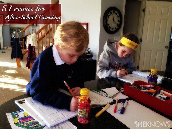 5 Lessons for after-school parenting