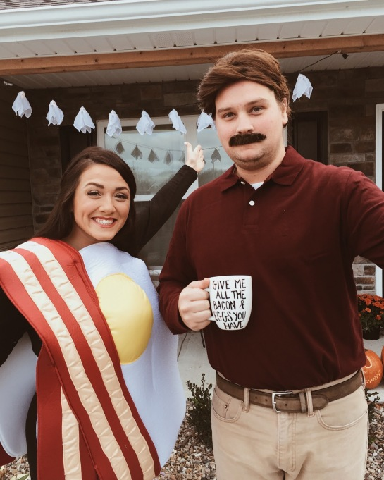 Ron Swanson & breakfast costume