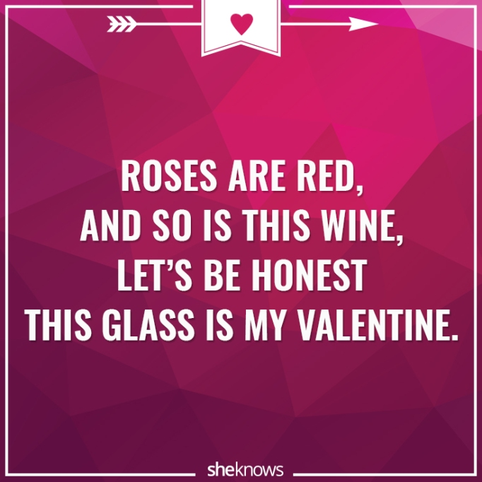Funny Valentine's Day poem about wine