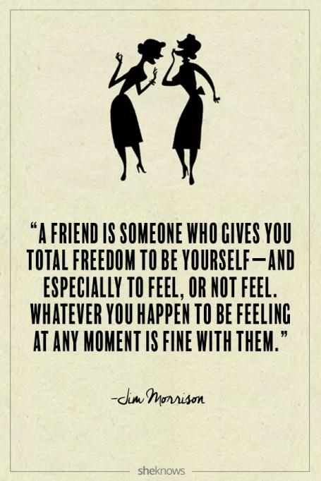 Jim Morrison quote about friendship