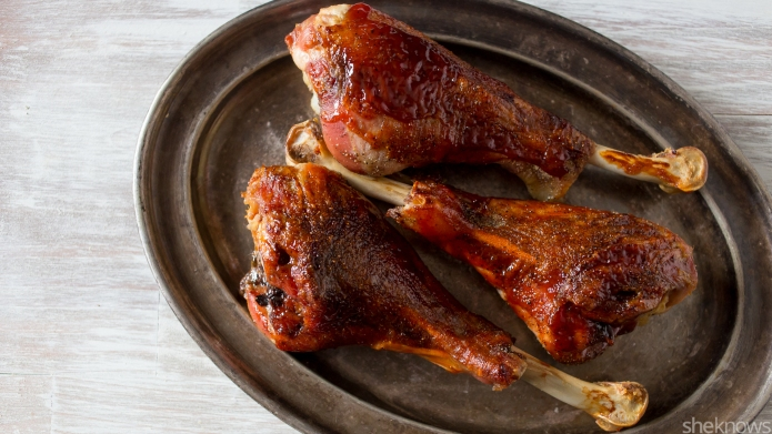 Baked BBQ turkey legs let you