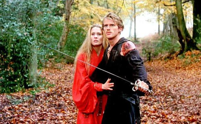 Robin Wright and Carey Elwes in The Princess Bride