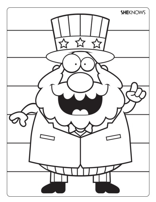Uncle Sam coloring page printable