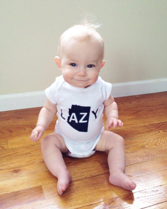 State Pride Baby Onesies: LulaBall Lazy in AZ Baby Onesie