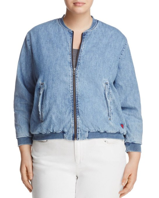 Cool Denim For Fall: Lucky Brand Bomber Jacket | Fall Fashion 2017