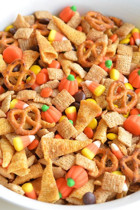 The Best Halloween Desserts on Pinterest: Jazz up your Chex mix for Halloween
