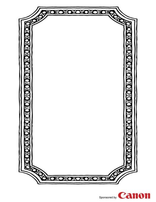 Craft template frame