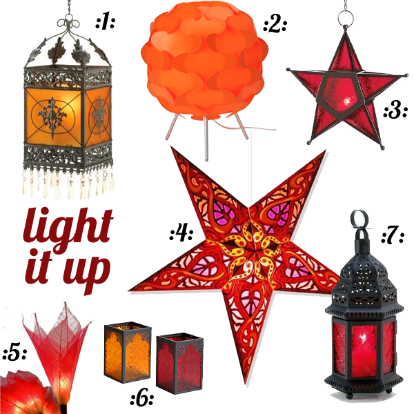 Light up your life: Red, orange
