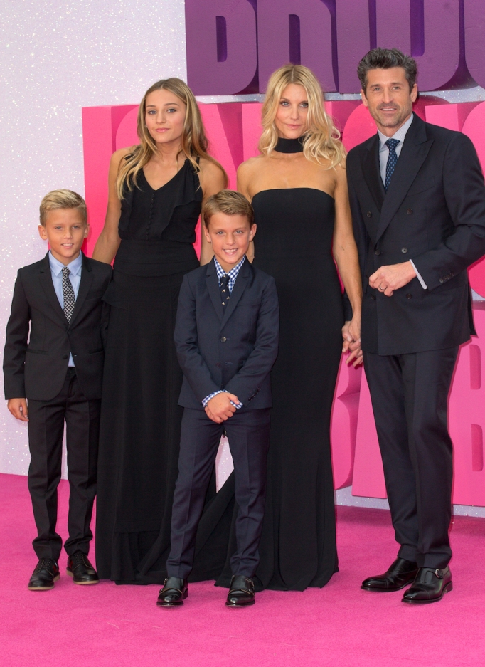 Jillian Fink, Patrick Dempsey and family in 2016