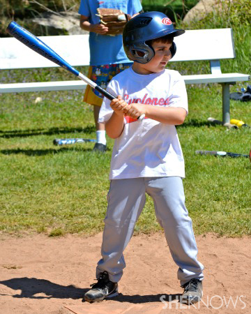 Ethan Walmark at bat