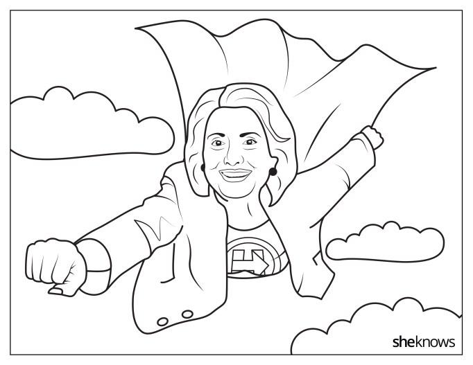 Hillary Clinton as Supergirl