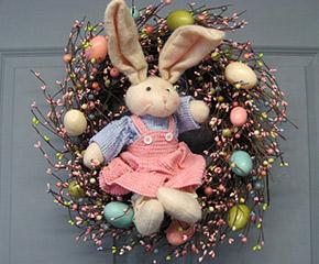 etsy bunny wreath