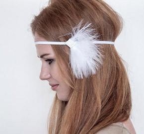 etsy feather headband