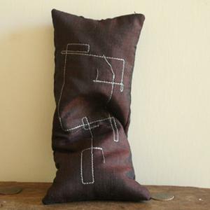 Silk Eye Pillow in Mocha
