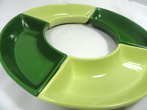 Retro green serving trays