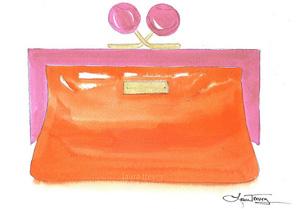 Kate Spade clutch watercolor