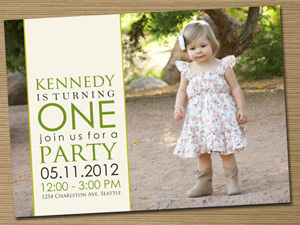 Photo invitation