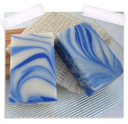 Mint swirl organic soap