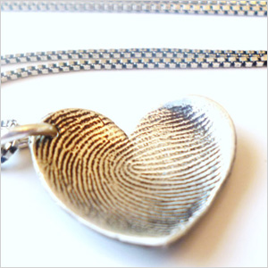 Baby tags fingerprint necklace