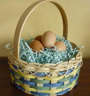 Woven Easter basket
