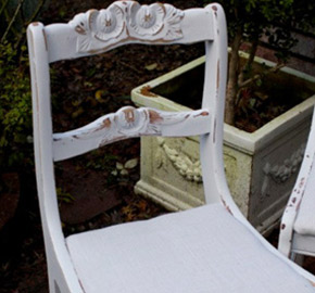 etsy shabby chic chair