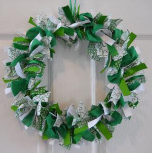 St. Patrick's Day rag wreath