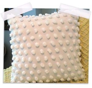 Vintage giant pops chenille pillow