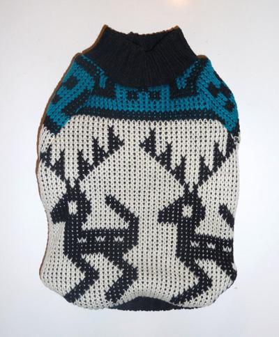 Reindeer print dog sweater