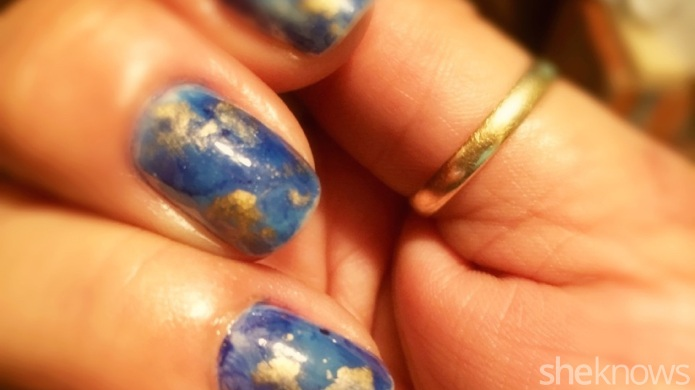 Alcohol ink nails are the perfect