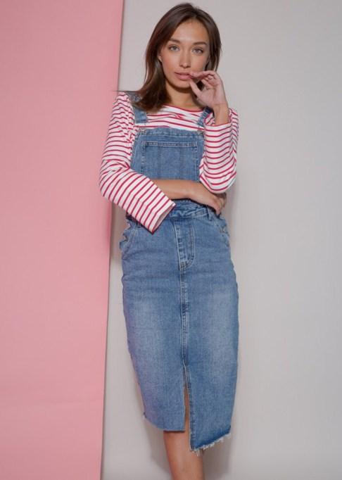Denim Dresses Are Back: Petite Studio Grasmere Overall | Summer Fashion Trends