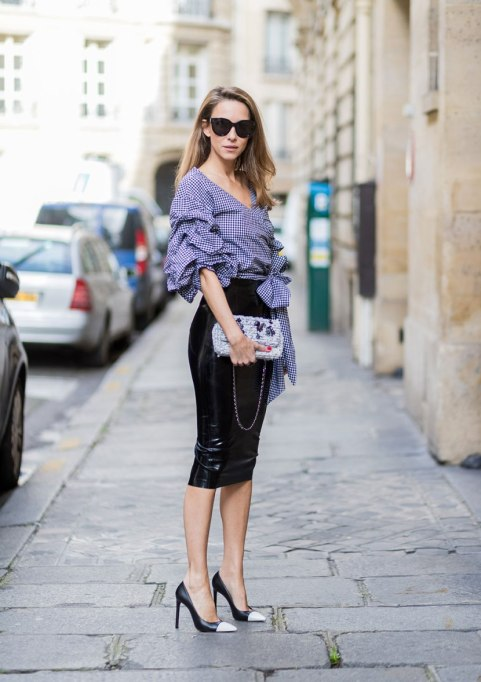 Modern Pieces For Every Woman's Work Wardrobe | Leather Pencil Skirt
