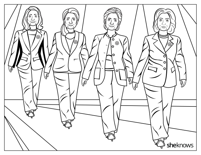 Hillary Clinton and her many pantsuits