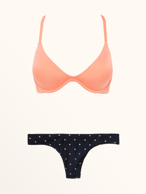 Best Lingerie to Wear With Every Summer Outfit | Beautifully Basic Lace Back Plunge Bra & Cotton-Modal Thong