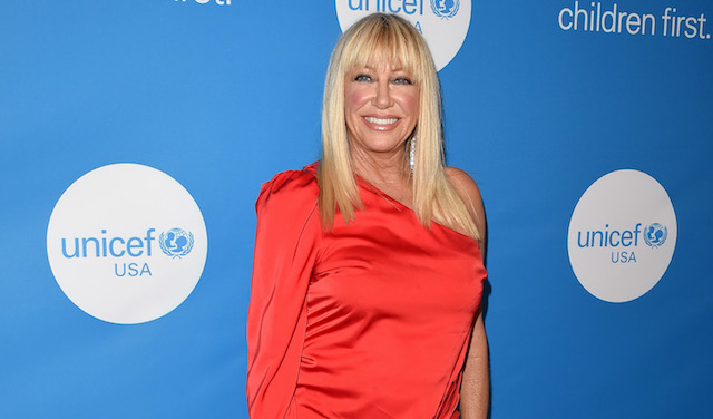 Suzanne Somers attends the 7th Biennial UNICEF Ball at the Beverly Wilshire Four Seasons Hotel