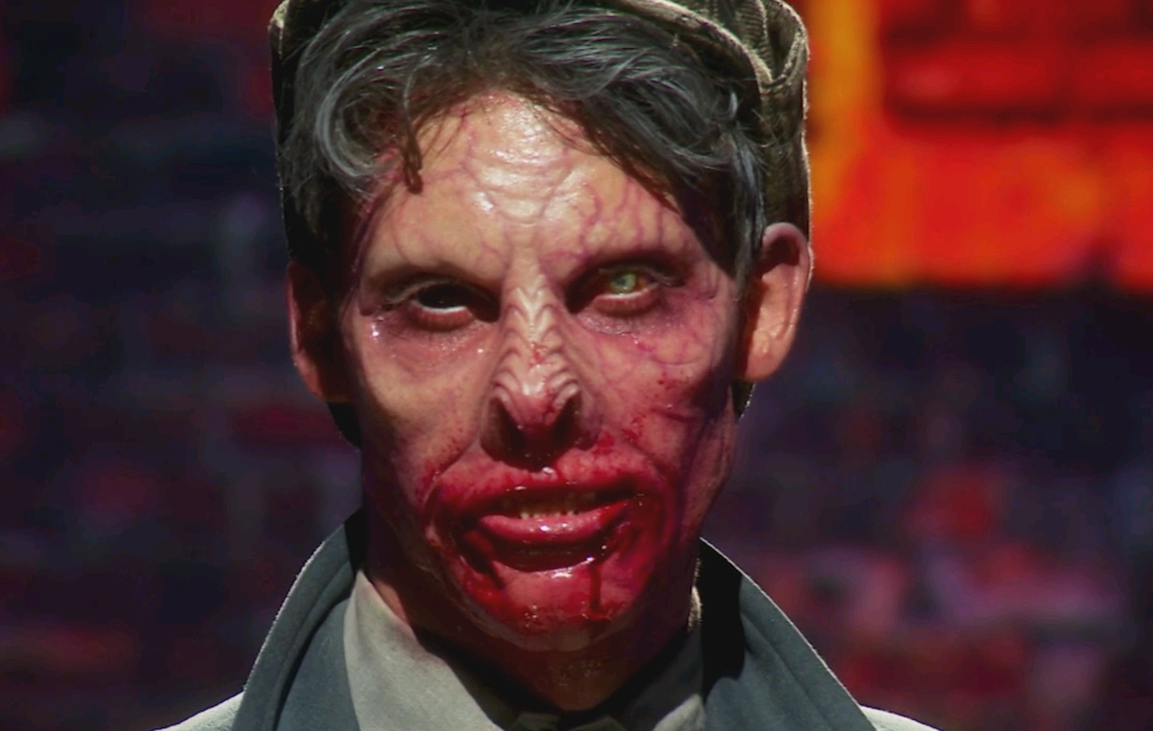 A close look at Evan Hedges' finished makeup