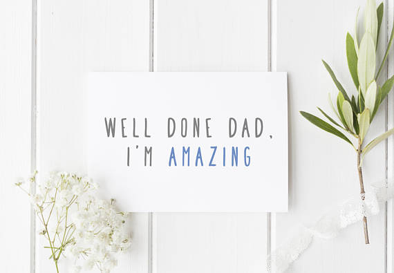 'I'm amazing' Father's Day card