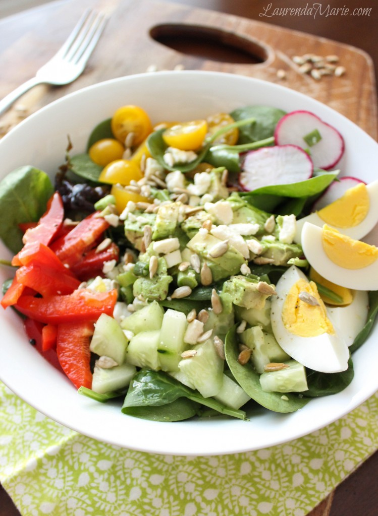 everyday spinach salad